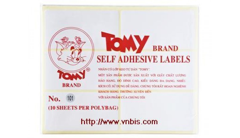 Giấy Decal Tomy 124